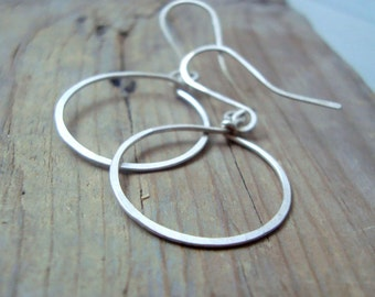 Small Sterling Hoop Earrings Minimalist Modern Simple Silver Hoops Gifts Under 30 Gold Filled Metalwork Gifts For Her Everyday Earrings