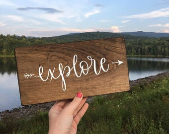 Explore - Wood Sign
