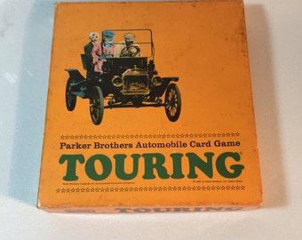 Vintage Parker Brothers Touring Card Game 1965