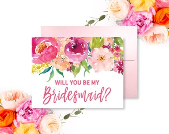Bridesmaid Proposal Card Will You Be My Bridesmaid Card Bridesmaid Gift Maid of Honor Card Bridal Party Card Ask Bridesmaid #CL117