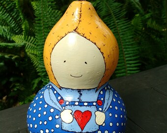 Florence - Hand Painted Gourd