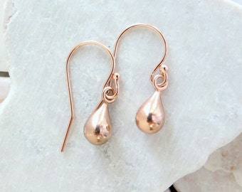 Teardrop Earrings + Gold Earrings + Rose Gold Earrings + Sterling Silver Earrings + Earrings For Women + Gold Filled Earrings
