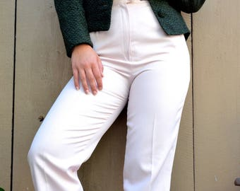 pale pink straight leg trousers pants size 26 27 4 6