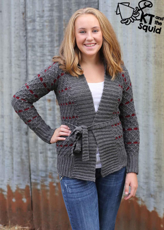 Crochet cardigan pattern, Women,crochet sweater pattern, knit look ...