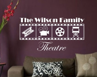 Home Movie/theater Personalized Version 8 Personalized Vinyl Wall Art Home Decor Sticker