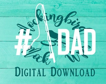 Fishing Dad #1 // SVG PNG File Download