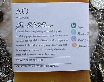 Organic Patchouli GroOOOOove Handcrafted Soap - Olive Oil