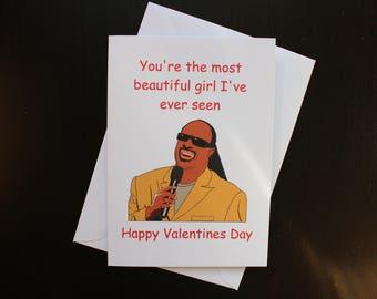 Stevie Wonder Valentines card, funny, pun,