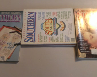 Southern Magazine, 9 issues, 1980's - FREE SHIPPING
