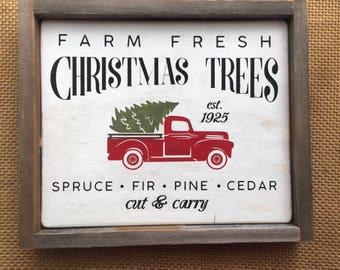 Wood Christmas Tree Farm Sign