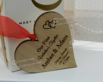 Personalised Mr & Mrs Couples Wooden Heart Key ring set. Valentines Day Gift. Wedding Gift Idea, Anniversary Gift