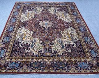 Rug Sale : 8 x 12   Tribal Shikargah  floor ethnic rug boho style vintage handmade rug persian carpet living room tribal  gift for her