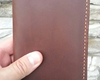 "Leather Moleskine Pocket Cover, Leather Journal Cover, Leather Notebook Cover, Pocket Size Cover, 3.5"" x 5.5"", Dark Brown Leather"