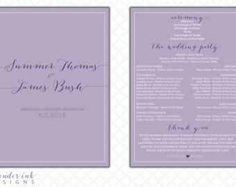 Custom - Wedding Program