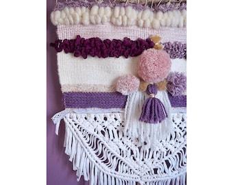 Plum weaving and macrame