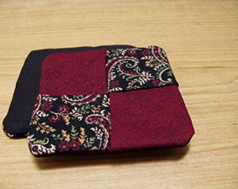 Set of 4 Reversible Fabric Coasters