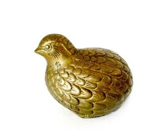 Brass Quail Figurine, Gift for Quail Lover, Quail Statue, Quail Figurine, Brass Home Accent