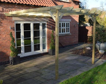 Lean to Garden Pergola - 2 Posts