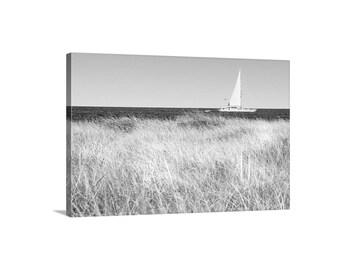 Rhode Island Seashore, Block Island Art, Sailboat Art, Sailing Photograph, Atlantic Ocean Photograph, Nautical Art, Block Island Gift