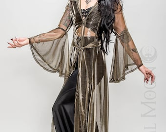 "NEW Limited Edition: The ""Egyptian Queen"" Priestess Cloak with Amulet on Hood in Gold by Opal Moon Designs (Sizes XS- XXL)"