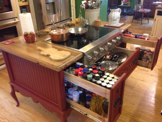 Kitchen Island Custom Made To Order Stove Oven Sink Dishwasher Seating Islands And Dining Skaggs Creek Wood Shop