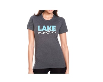 Ladies Woman Teen Ladies Lake Mode Short Sleeve Next Level Brand Tshirt