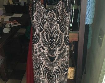 Black floor length evening gown