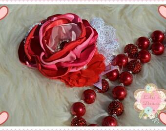 Valentine Headband, Red