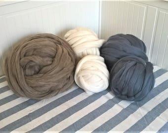 DIY Arm Knitting Merino Wool