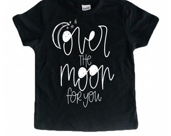 Over the Moon tee / kids space tee / galaxy shirt / space shirt for kids