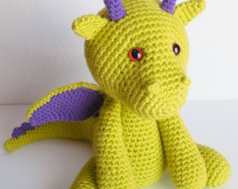 Spike the Dragon / Crochet Plush Dragon / Amigurumi Dragon Stuffed Animal