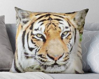 Tiger Pillow, Bengal Tiger Pillow, Tiger Photo, Tiger Print, Tiger Toss Pillow, Tiger Throw Pillow, Tiger Bedding, Tiger Decor, Tiger