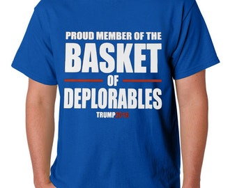 Trump for President 2016 Basket of Deplorables Men's Crew Neck T-Shirt FREE SHIPPING!