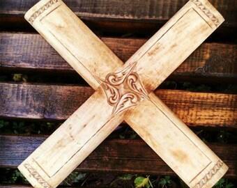 Wood carved boomerangs