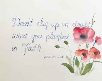 Faithful Poppies print