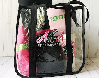 Personalized Stadium Bags - Sorority Theme