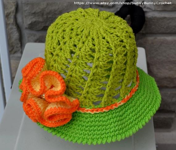 SUN HAT PATTERN, Crochet Hat Pattern, Child Hat, Crochet Pattern ...