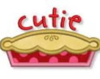 Cutie Pie Design Appliqued on a Children's Shirt