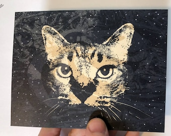 1AEON Animal Spirit - Cat postcard, Cat, postcard, greeting card, catl, card, kitty