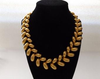 Beautiful, Vintage Anne Klein Gold Tone Statement Collar Necklace