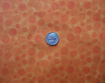 Fat Quarter - Orange Circles