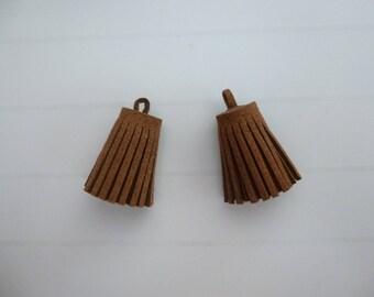 Set of 2 tassels suede tassel bag of 3 cm
