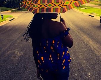 African print ankara umbrella