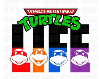 Teenage Mutant Ninja Turtles life Vinyl Window Decal Cutting File / Clipart Set in Svg, Eps, Dxf, and Jpeg for Cricut and Silhouette