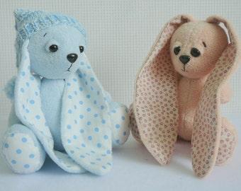 Bunny rabbit sewing pattern, Bunny Pattern, Rabbit pattern, Hare pattern, Bunny soft toy pattern, Doll sewing pattern, sewing patterns