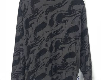 Rare!!! Power To The People Sweatshir Pullover Small Logo Spellout Camouflage