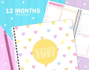My Thoughtful Diary (12 months), mood diary
