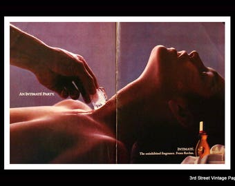 1987 Revlon Intimate Perfume Ad - Wall Art - Home Decor - Bath - Vanity - 80s Style - Retro Vintage Fragrance Advertising