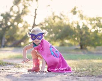 Custom Super Hero Cape - Personalized Superhero Cape - Super Hero Mask - Super Hero Cuffs - Costume - Boy Superhero - Girl Hero - Birthday