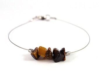Quartz jewelry, tiger eye bracelet, handmade jewelry, natural stone bracelet, quartz bracelet, stone jewelry silver bracelet handmade shikky